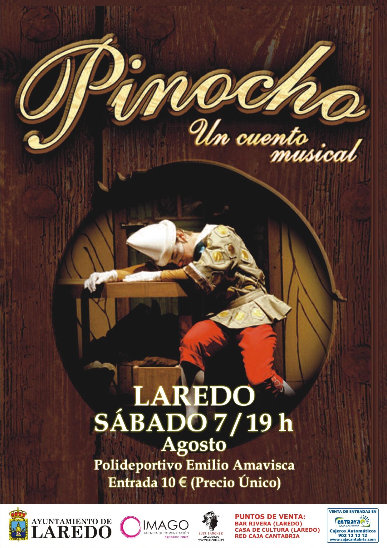 Musical pinocho un cuento musical ayuntamiento de for Oficina zaragoza delicias dni